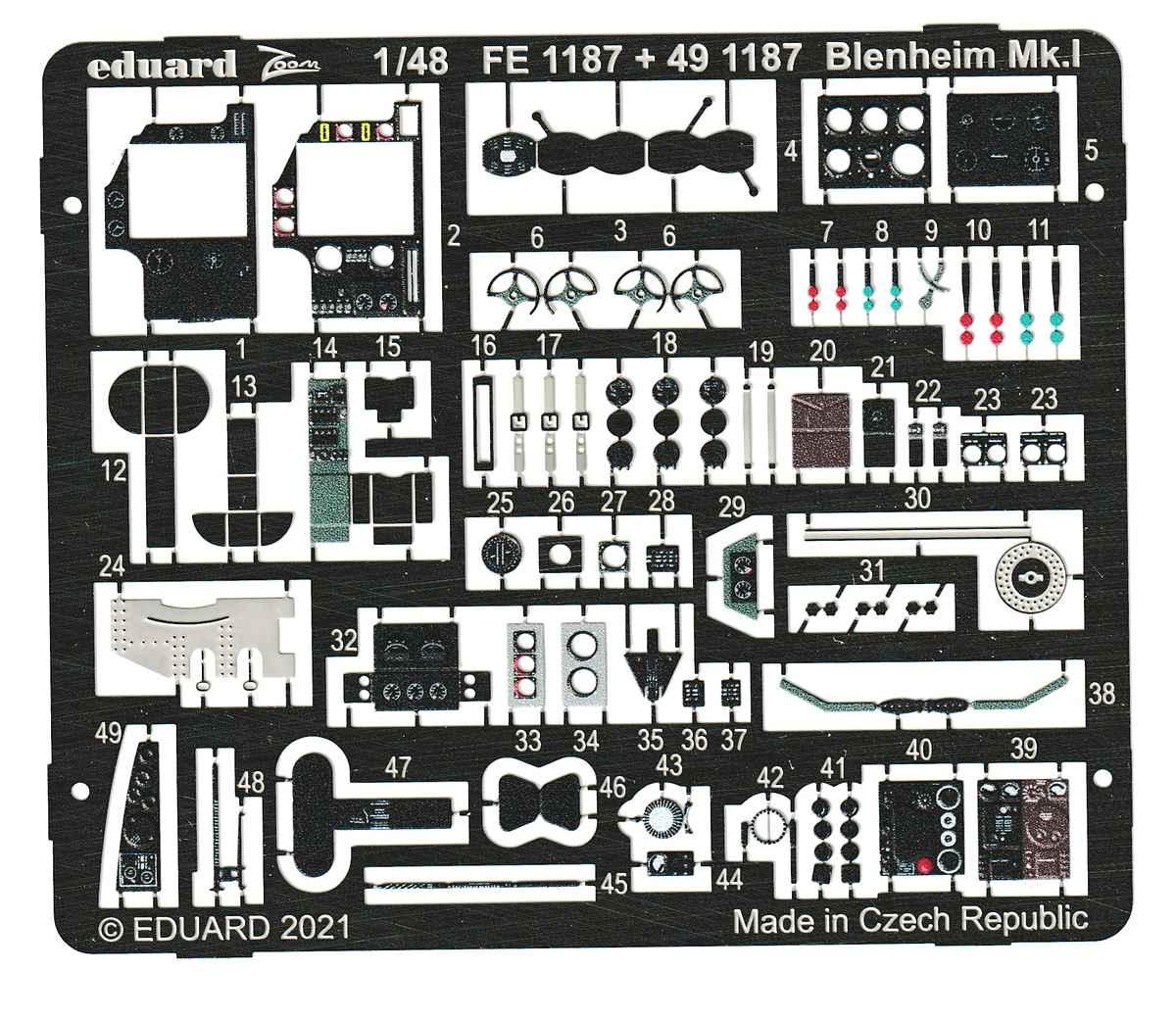 Eduard-Fe1187-Zoom-Blenheim-Mk.I-2 Detailset ZOOM für die neue Blenheim Mk. I von Airfix #FE 1187