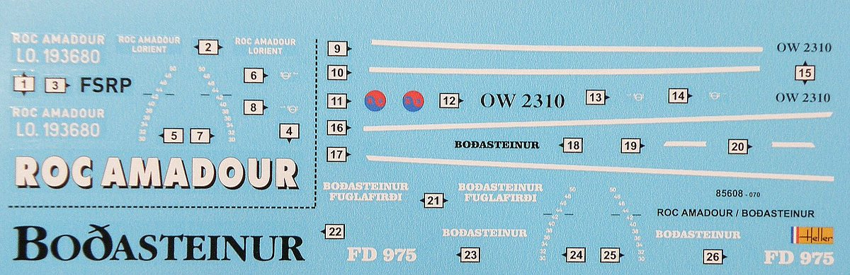 Heller-85608-Twin-Set-Roc-Amadour-24 Twin Set Jean Roc Amadour & Bodasteinur (#85608), Heller, 1:200