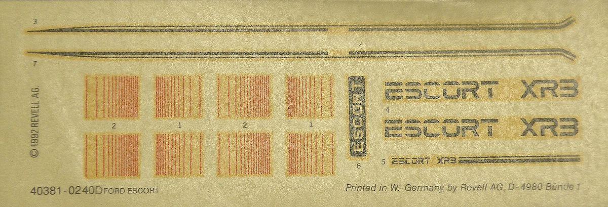 Matchbox-40381-Ford-Escort-XR-3-13 Kit-Archäologie: Ford Escort XR-3 in 1:25 von Matchbox #40381