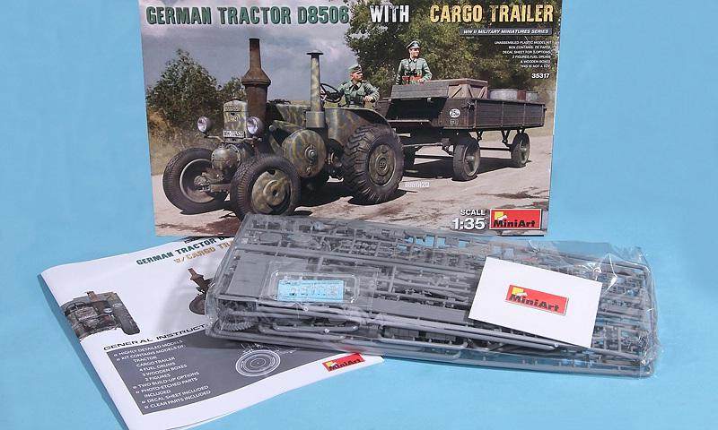 MiniArt-35317-LANZ-Bulldog-D8506-with-cargo-Trailer-4 Lanz D 8506 mit Anhänger in 1:35 von MiniArt # 35317