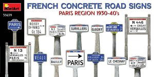 FRENCH CONCRETE ROAD SIGNS in 1:35 von Miniart #35659