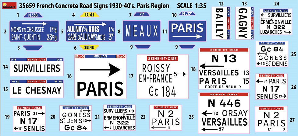 MiniArt-35659-French-Concrete-Road-signs-2 FRENCH CONCRETE ROAD SIGNS in 1:35 von Miniart #35659