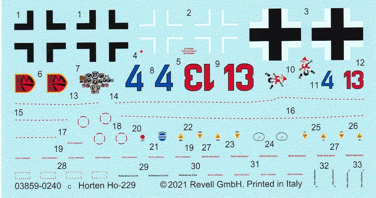Revell-03859-Horten-Go-229-51 Horten Ho 229 in 1:48 von Revell #03859