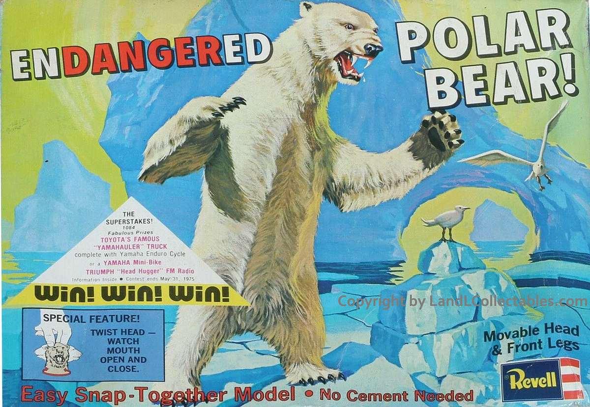 Revell-6464-Eisbaer Kit-Archäologie: Eisbär (Polar-Bär) von Revell, 1:? #6464