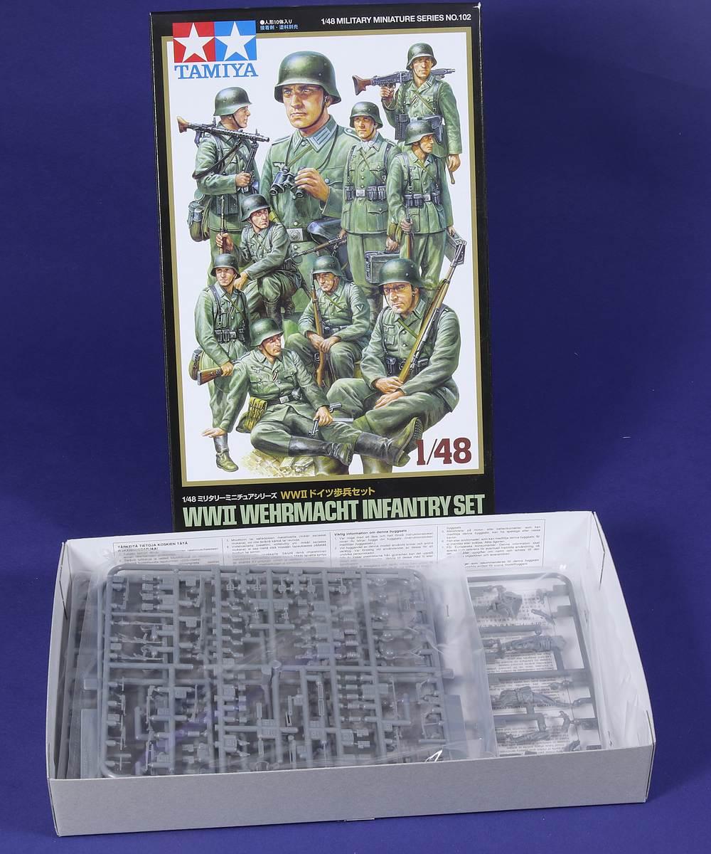 Tamiya-102-WW-II-Wehrmacht-Infantry-Set-1-48-2 WW II German Infantry in 1:48 von Tamiya #32602