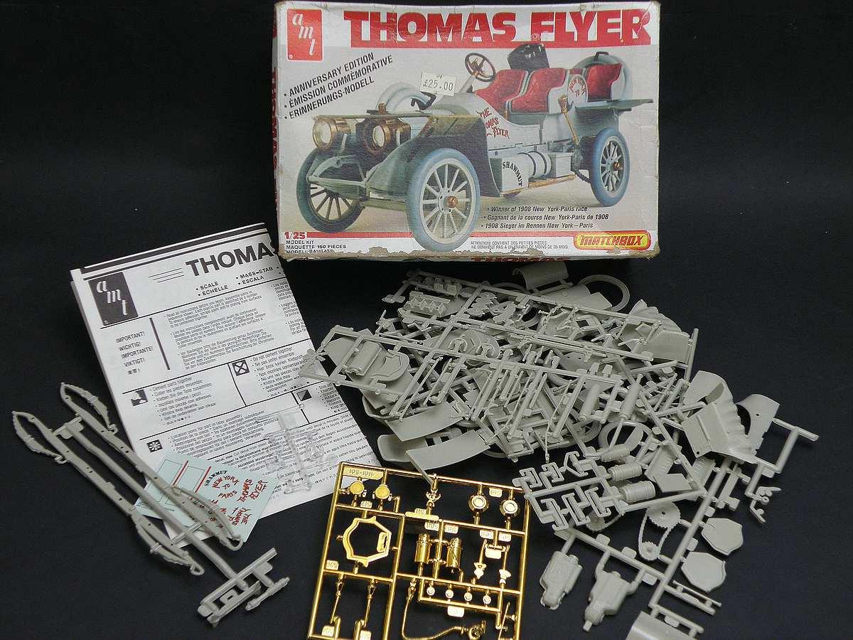 AMT-Matchbox-PK-4101-Thomas-Flyer-4 Kit-Archäologie: Thomas Flyer in 1:25 von AMT / Matchbox #PK-4101