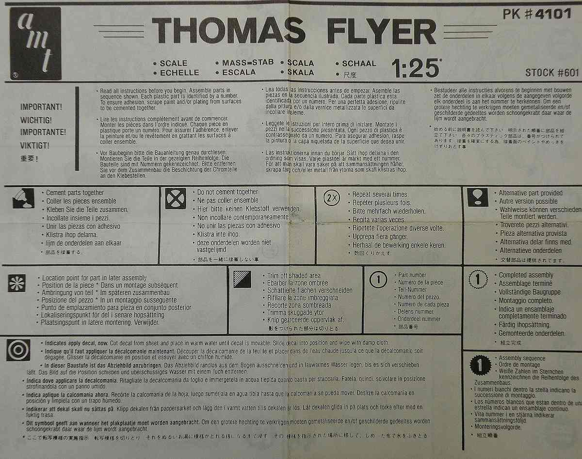 AMT-Matchbox-PK-4101-Thomas-Flyer-5 Kit-Archäologie: Thomas Flyer in 1:25 von AMT / Matchbox #PK-4101