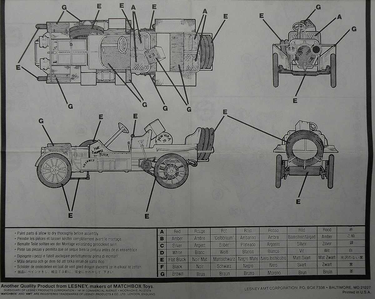 AMT-Matchbox-PK-4101-Thomas-Flyer-9 Kit-Archäologie: Thomas Flyer in 1:25 von AMT / Matchbox #PK-4101
