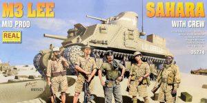 M3 Lee Mid Prod Sahara with Crew 1:35 Miniart (#35274)