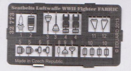 Eduard-32773-Seatbelts-Luftwaffe-Fighters-FABRIC-4 Seatbelts Luftwaffe FABRIC in 1:32 von Eduard #32773