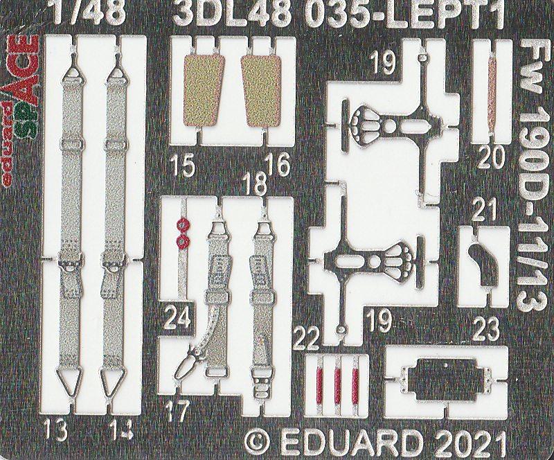 Eduard-3DL48035-FW-190-D-11-SPACE-5 SPACE-Set für Focke-Wulf 190 D-11/D-13 von Eduard #3DL48035