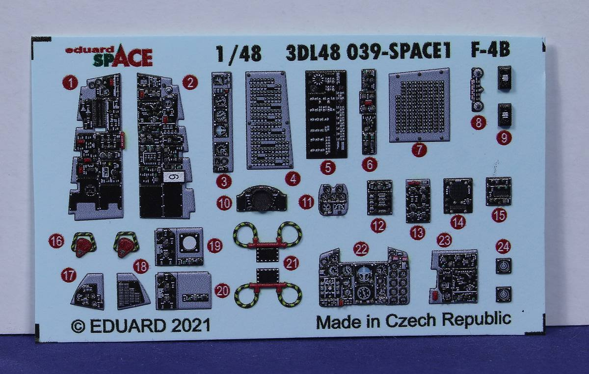 Eduard-3DL48040-Tamiya-F-4B-SPACE-3 Eduard SPACE für Tamiya F-4B Phantom # 3DL48040