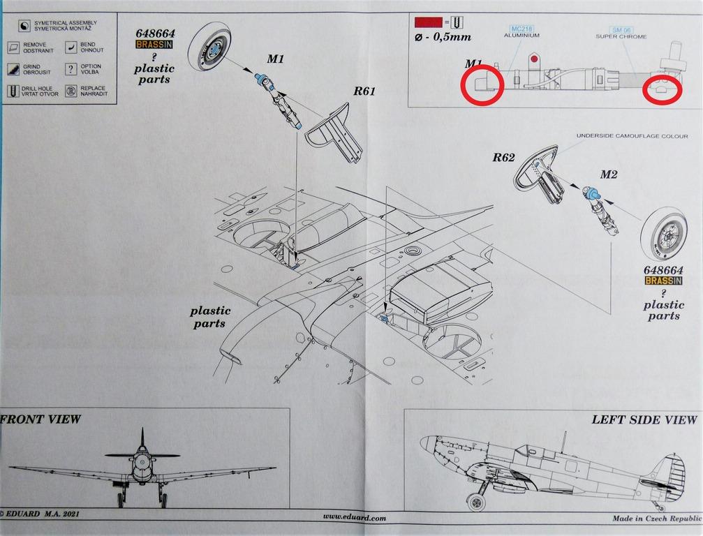 Eduard-648670-und-671-BRONZE-legs-fuer-Spitfire-Mk.-V-10 BRONZE-Legs für die Spitfires Mk. V von Eduard in 1:48 #648670 und 648671