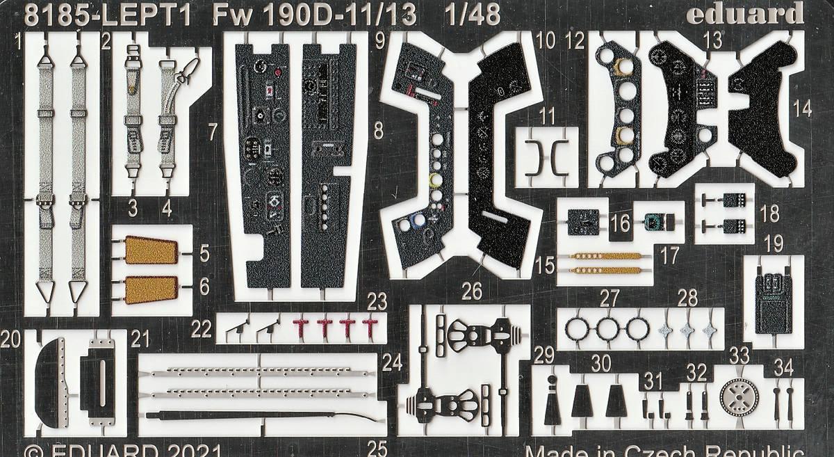 Eduard-8185-FW-190-D-11-und-D-13-28 Focke-Wulf Fw 190D-11/13 von Eduard # 8185