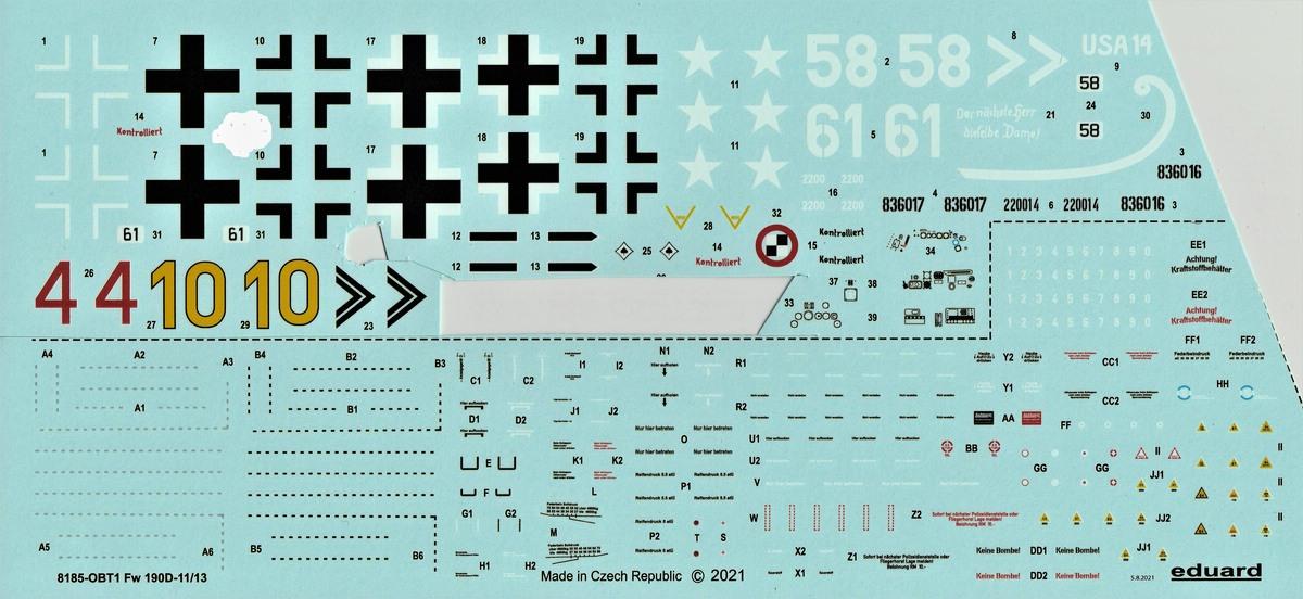 Eduard-8185-FW-190-D-11-und-D-13-30 Focke-Wulf Fw 190D-11/13 von Eduard # 8185