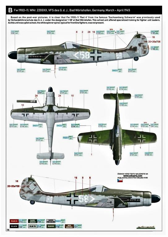 Eduard-8185-FW-190-D-11-und-D-13-44 Focke-Wulf Fw 190D-11/13 von Eduard # 8185