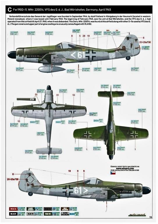 Eduard-8185-FW-190-D-11-und-D-13-45 Focke-Wulf Fw 190D-11/13 von Eduard # 8185