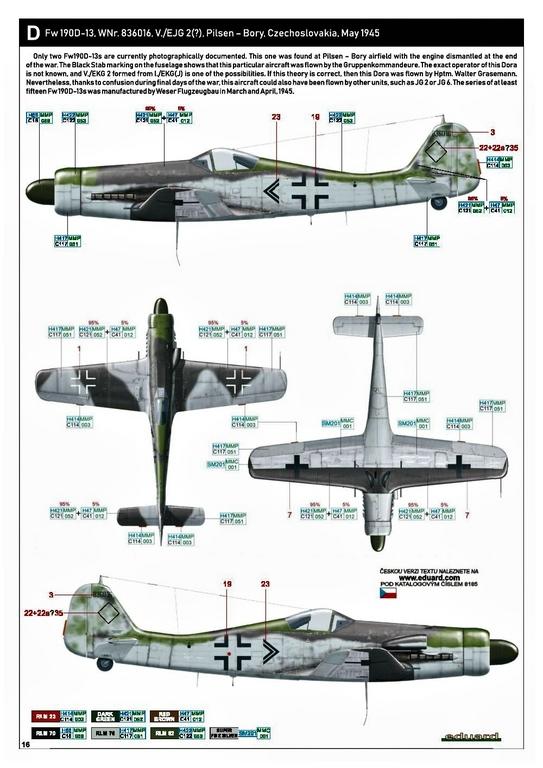 Eduard-8185-FW-190-D-11-und-D-13-46 Focke-Wulf Fw 190D-11/13 von Eduard # 8185