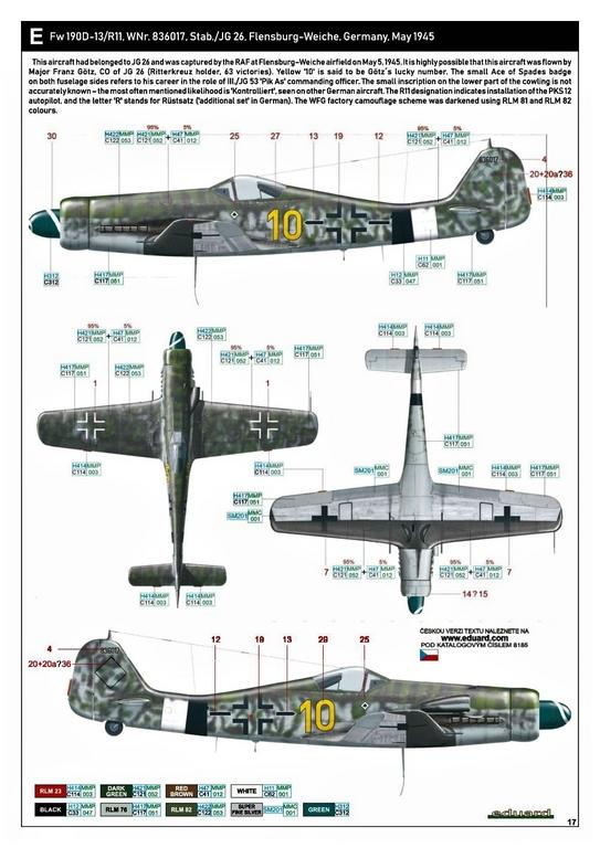 Eduard-8185-FW-190-D-11-und-D-13-47 Focke-Wulf Fw 190D-11/13 von Eduard # 8185
