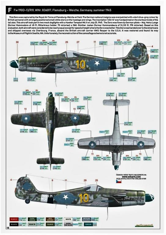 Eduard-8185-FW-190-D-11-und-D-13-48 Focke-Wulf Fw 190D-11/13 von Eduard # 8185