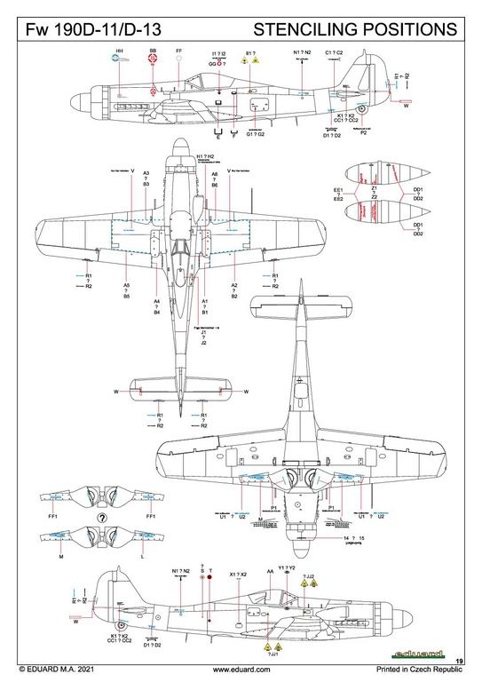 Eduard-8185-FW-190-D-11-und-D-13-49 Focke-Wulf Fw 190D-11/13 von Eduard # 8185