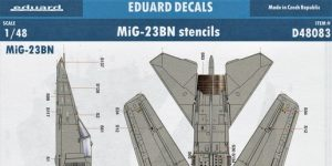 MiG-23 BN stencils in 1:48 von Eduard #D48083