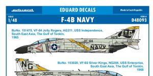 Eduard-Decals für die F-4B Phantom von Tamiya in 1:48 #D48093