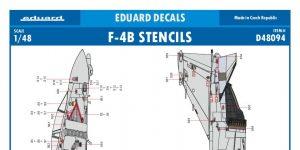 Eduard -Decals für die F-4B Phantom II von Tamiya in 1:48 #D48094
