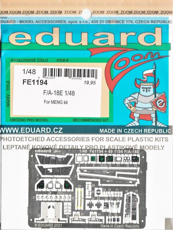 Eduard-FE-1194-und-1195-F-18-von-meng-2 Eduard Ätzteile und Masken für Mengs neue F/A-18E Super Hornet #FE1194, FE1195, EX786 und EX787