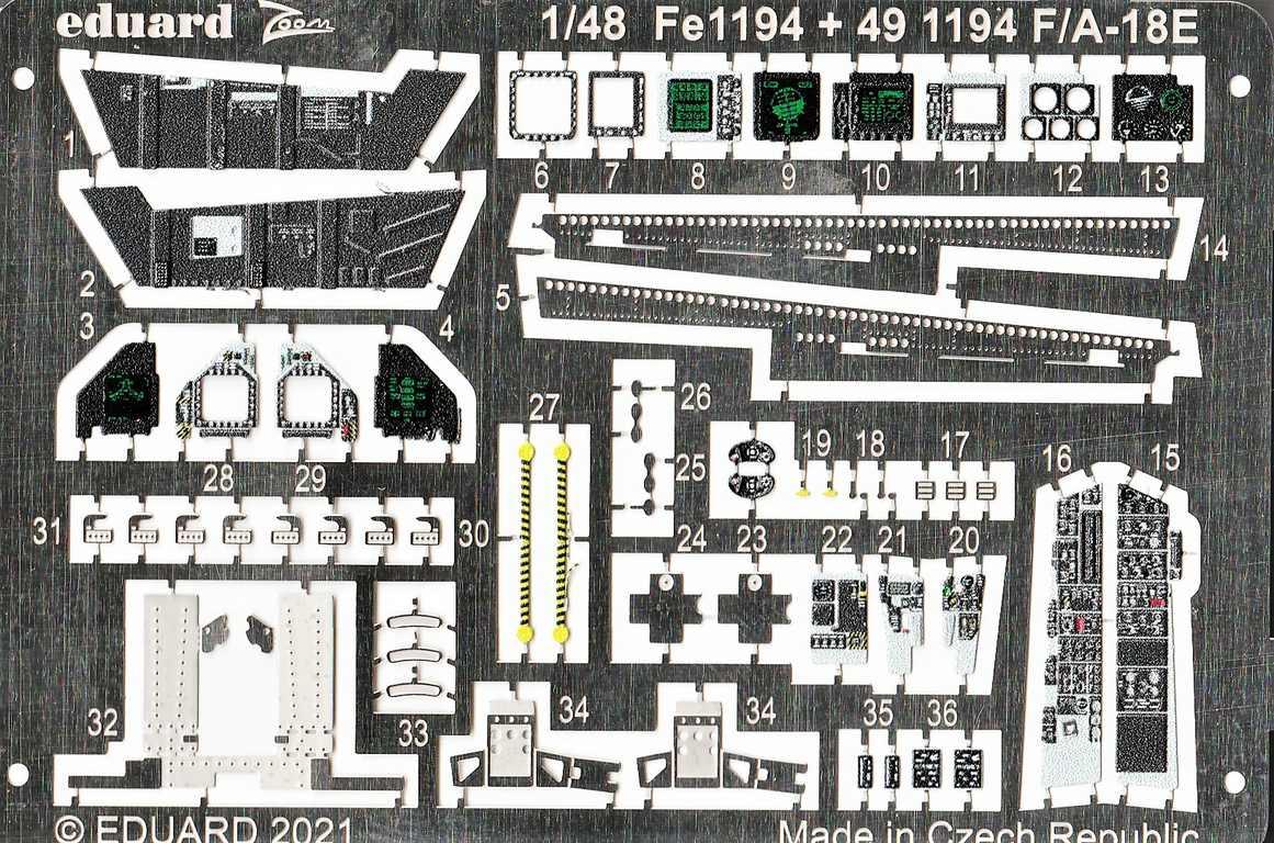 Eduard-FE-1194-und-1195-F-18-von-meng-3 Eduard Ätzteile und Masken für Mengs neue F/A-18E Super Hornet #FE1194, FE1195, EX786 und EX787