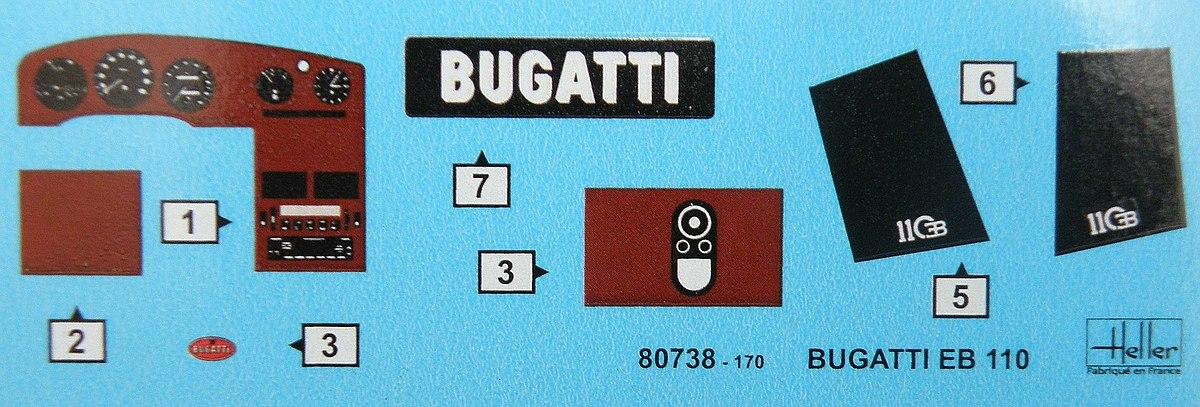 Heller-80738-Bugatti-EB-110-13 Bugatti EB 110 von Heller (1:24) #80738