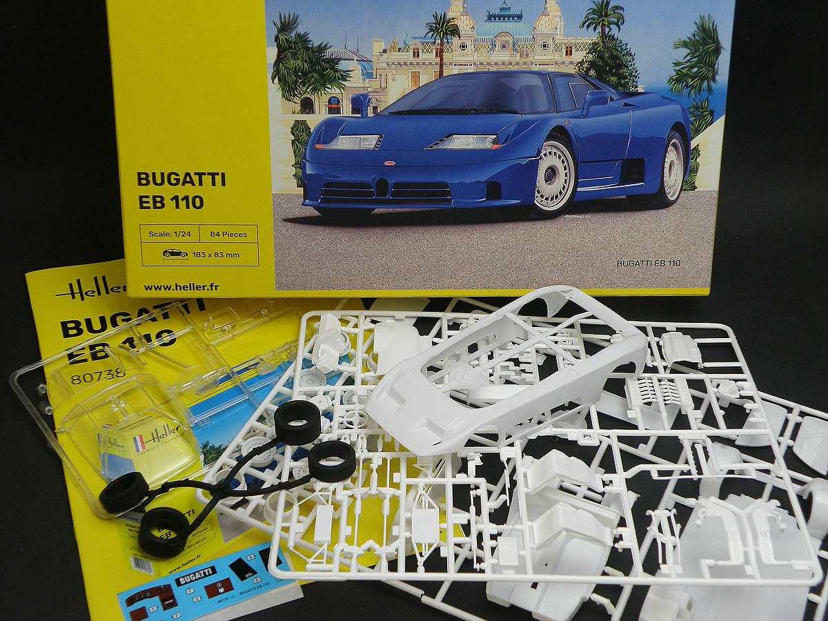 Heller-80738-Bugatti-EB-110-2 Bugatti EB 110 von Heller (1:24) #80738