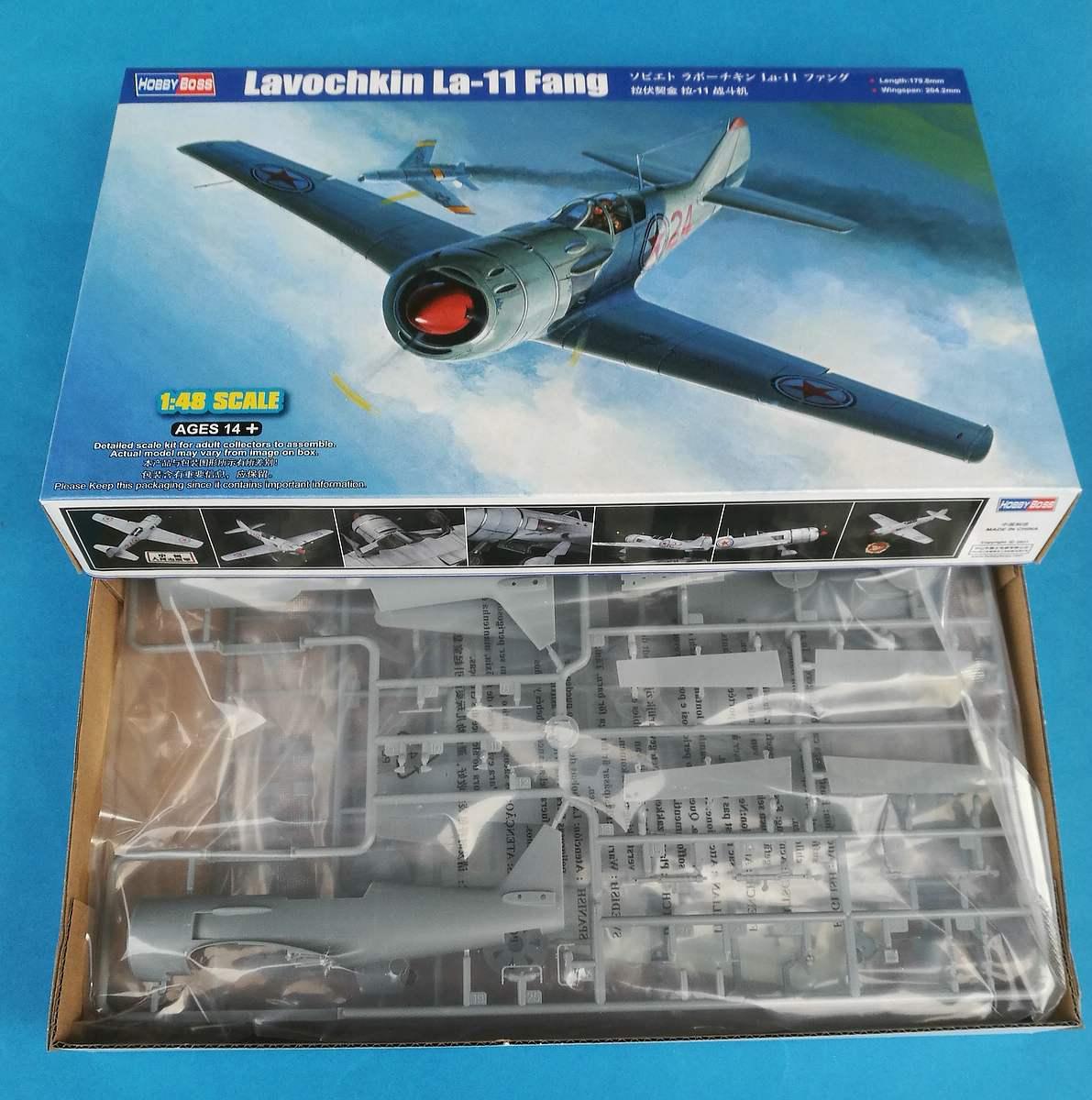 HobbyBoss-81760-La-11-Fang-1 Lavochkin -11 Fang in 1:48 von HobbyBoss # 81760