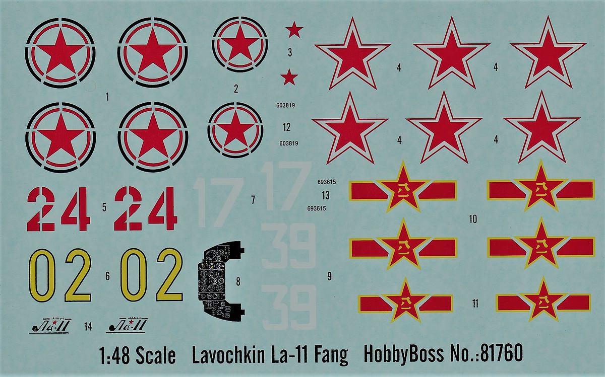 HobbyBoss-81760-La-11-Fang-45 Lavochkin -11 Fang in 1:48 von HobbyBoss # 81760