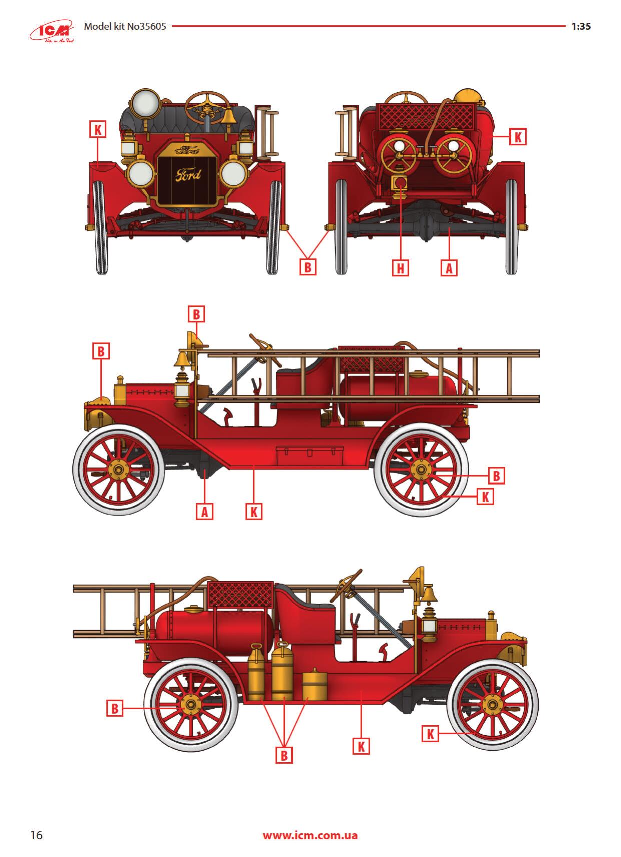 ICM-35605-Ford-Model-T-1914-Fire-Truck-16 Ford Model T 1914 Fire Truck in 1:35 von ICM # 35605