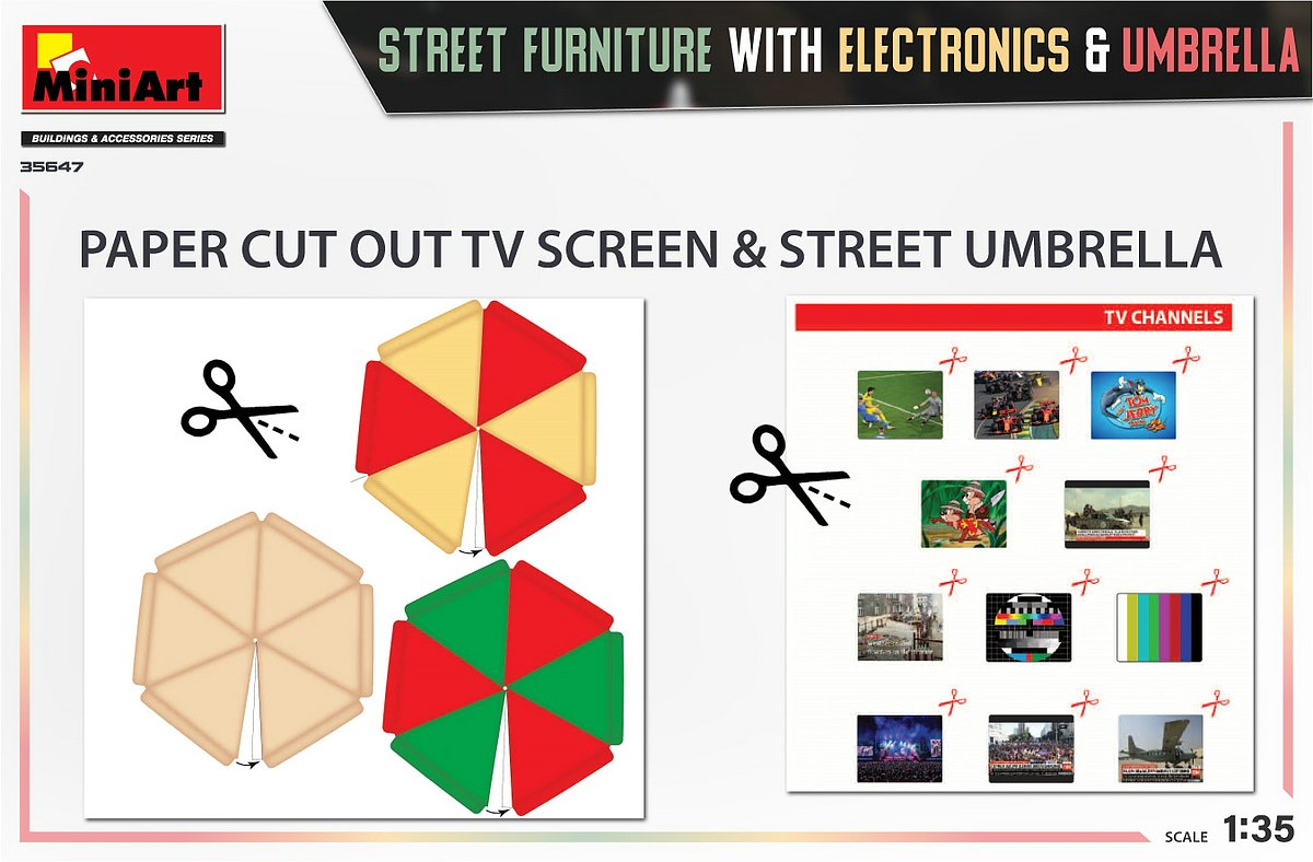 MiniArt-35647-Street-Furniture-4 Street Furniture in 1:35 von MiniArt #35647