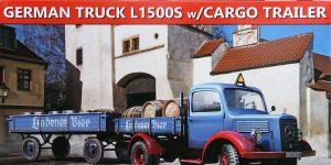Mercedes L 1500S with cargo trailer in 1:35 von MiniArt 38023
