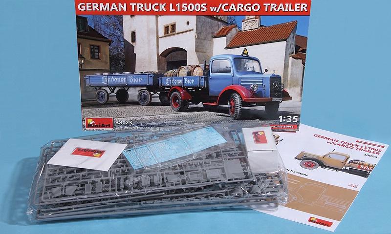 MiniArt-38023-Merdecedes-L1500S-with-Cargo-TRAILER-2 Mercedes L 1500S with cargo trailer in 1:35 von MiniArt 38023
