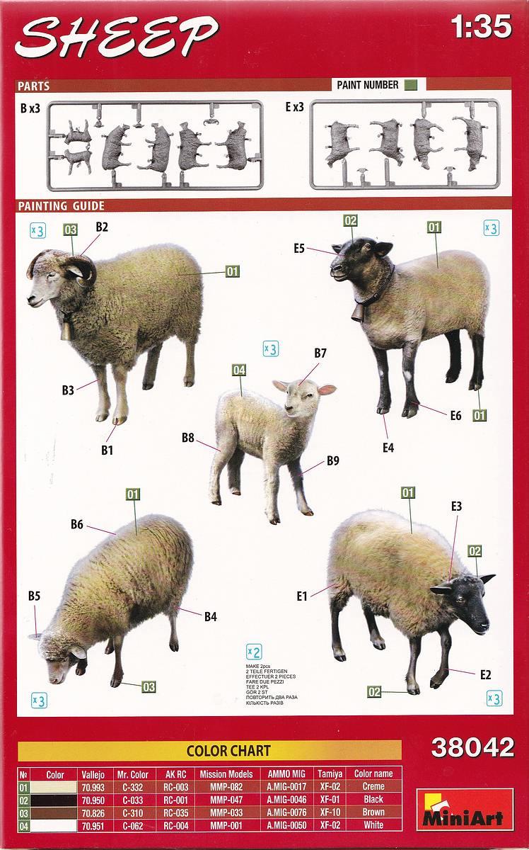 MiniArt-38042-Sheep-2 Schafe in 1:35 von MiniArt #38042
