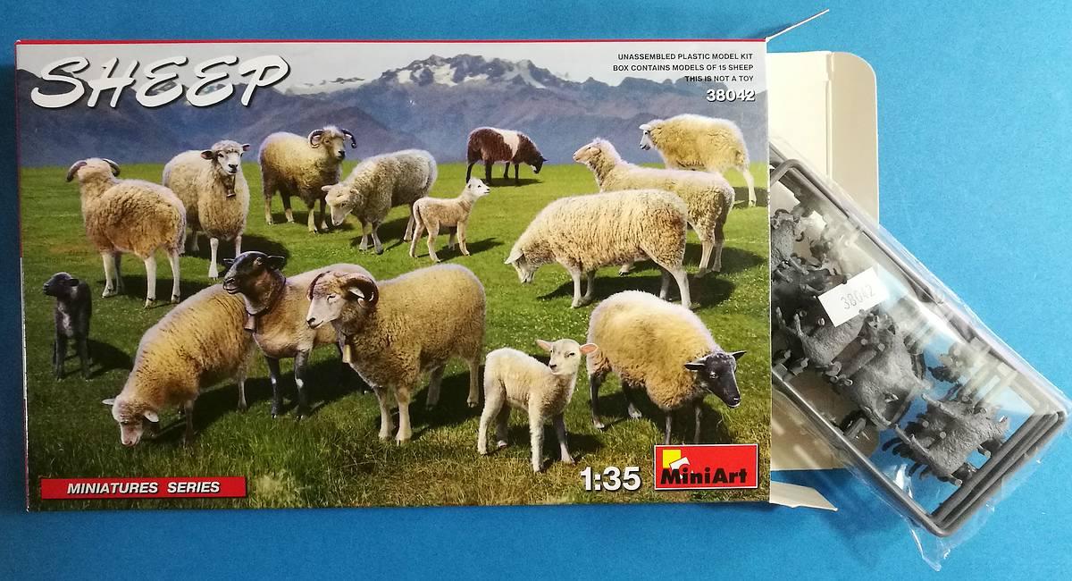 MiniArt-38042-Sheep-3 Schafe in 1:35 von MiniArt #38042