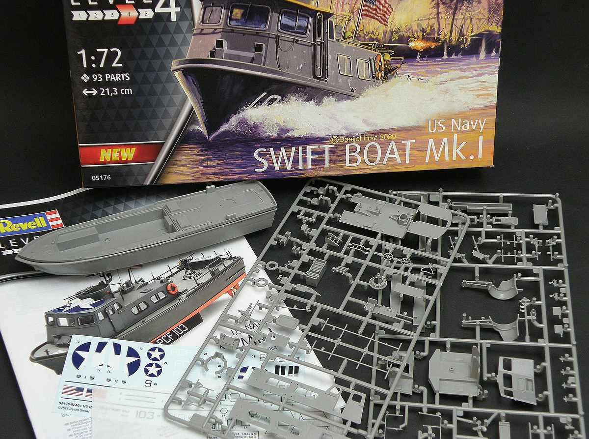 Revell-05176-US-NAVY-Swift-Boat-2 US NAVY Swift Boat Mk. 1 in 1:72 von Revell #05176