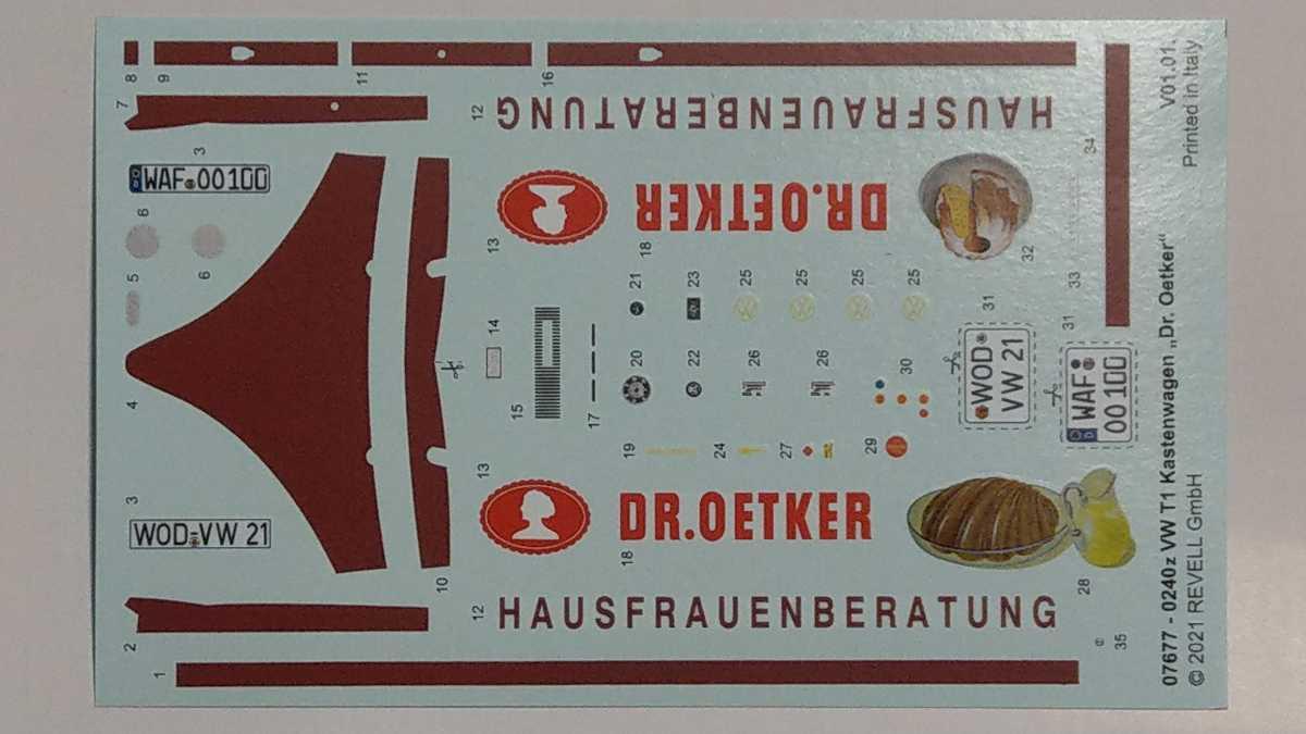 """Revell-07677-VW-T1-Dr.-Oetker-14 VW T1 """"Dr. Oetker"""" von Revell (1/24) #07677"""