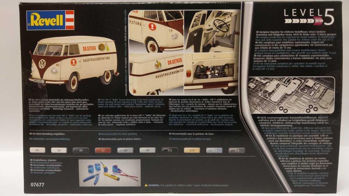 """Revell-07677-VW-T1-Dr.-Oetker-2 VW T1 """"Dr. Oetker"""" von Revell (1/24) #07677"""