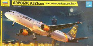 Airbus A321ceo in 1:144 von Zvezda #7040